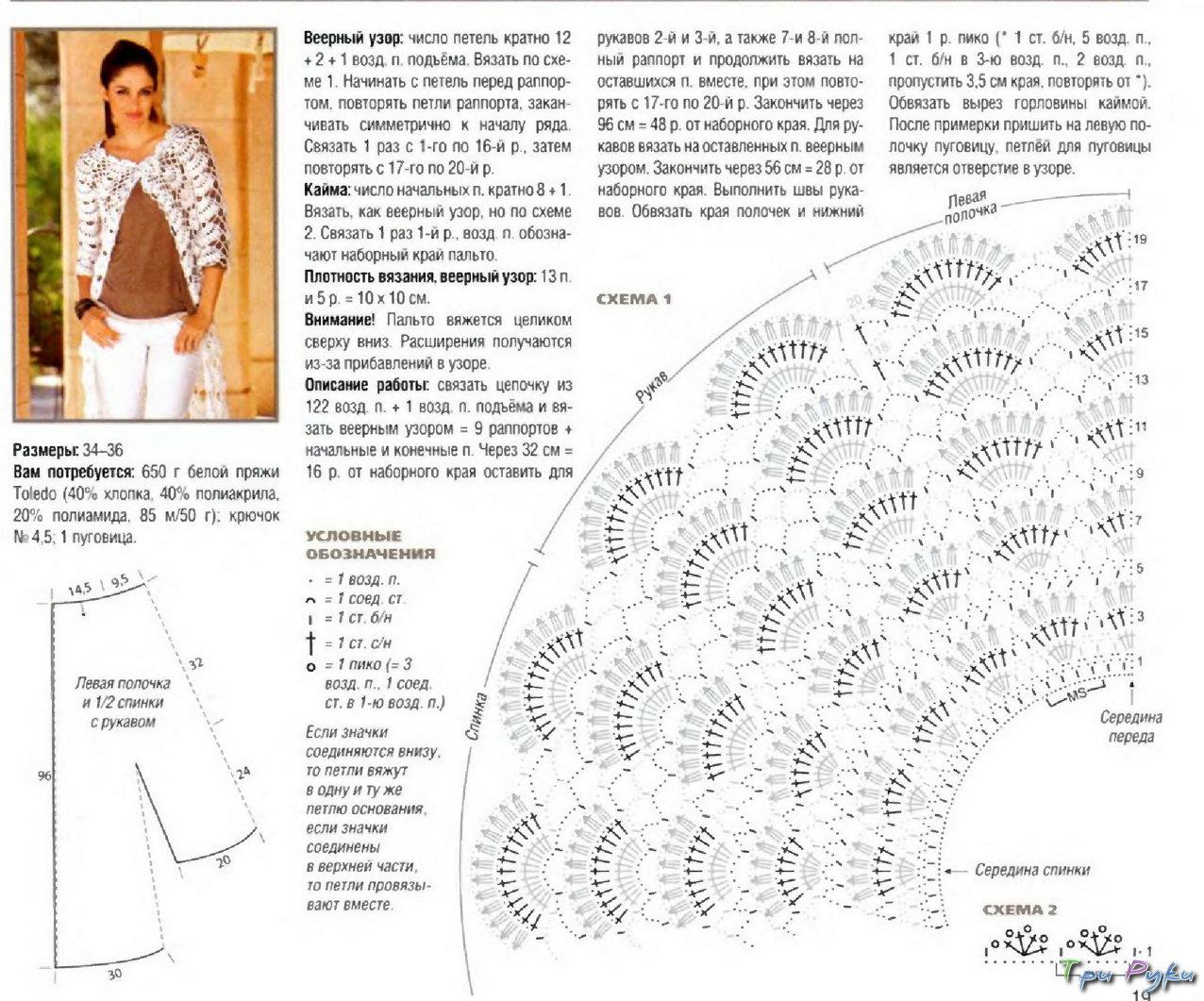 Вязание крючком кардиганы и схемы