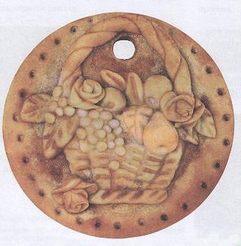 """Медальон """"Цветы и фрукты"""""""