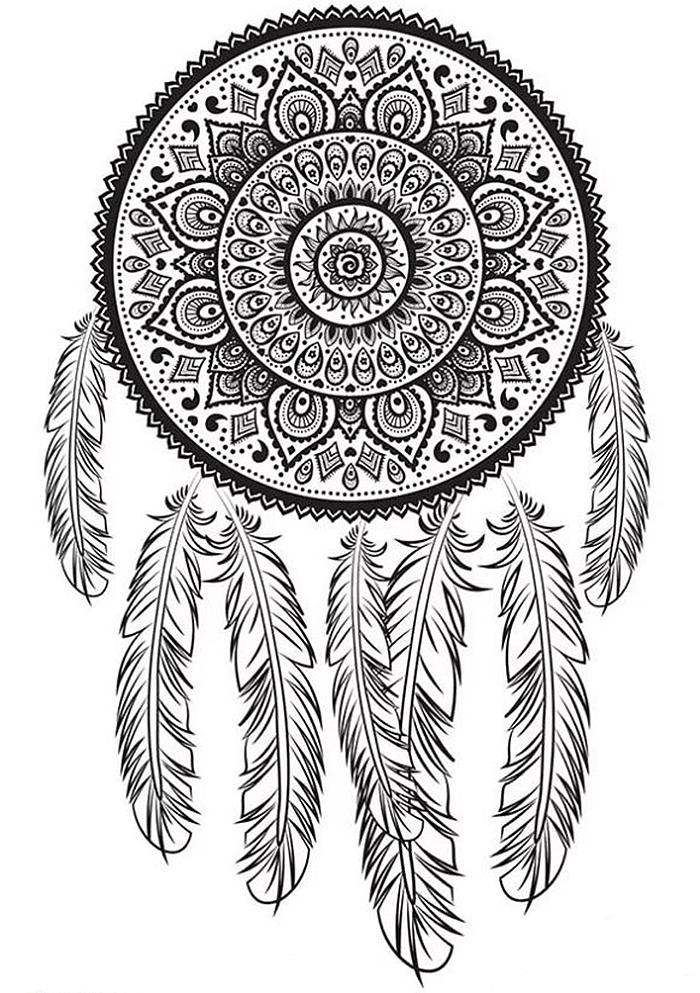 Раскраски антистресс индейцы