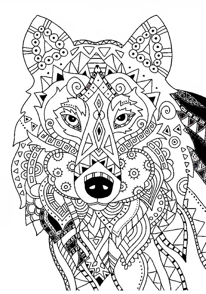 Раскраски антистресс животные