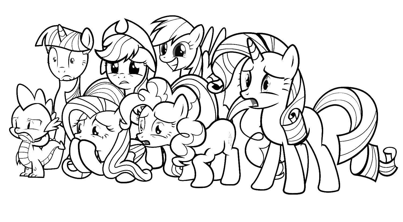 все пони из май литл пони раскраски игры пони май литл