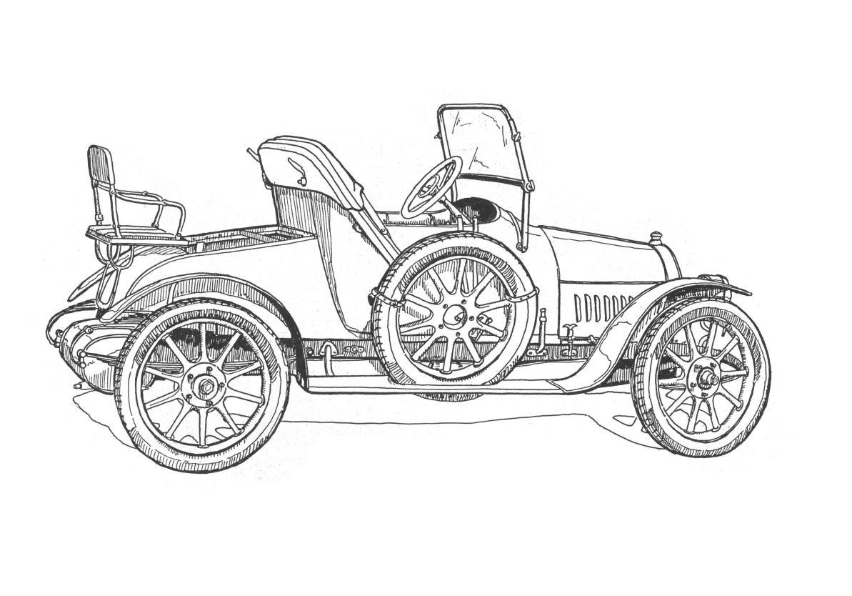 Раскраски - Ретро автомобили